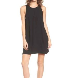 Leith black racerback shift dress